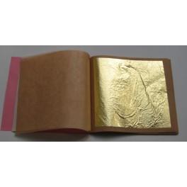 Feuilles d'or 23,75 carats libres à double épaisseur 8 x 8 cm