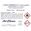 Acide formique très pur pour analyse (CH2O2) min. 85%