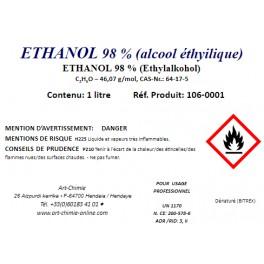 Alcool éthylique dénaturé (incolore) min 98 % ( C2H6O )