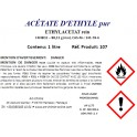 Acétate d'éthyle pour analyse (C4H8O2) min. 99,4%