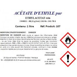 Acétate d'éthyle pour analyse ( C4H8O2 ) min. 99,4%