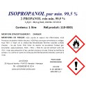 Alcool isopropylique pur (C3H8O) min 99,5 % - Isopropanol