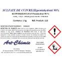 Sulfate de cuivre pentahydraté (CuSO4 x 5H20) min. 98% - 1 kg - en poudre
