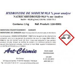 Hydroxyde de sodium pour analyse (NaOH) min. 98,8 % - Soude caustique