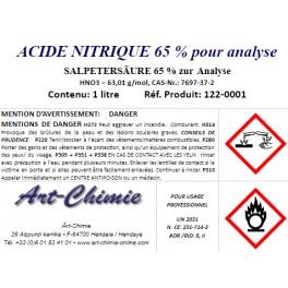 Acide nitrique - pour analyse ( HNO3 ) à 65%
