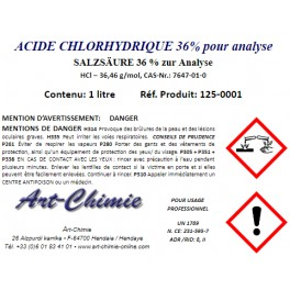 Acide chlorhydrique - pour analyse (HCl) min. 36%