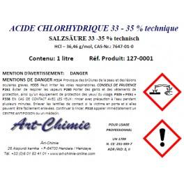 Acide chlorhydrique - technique (HCl) 33-35%