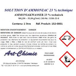 Solution aqueuse d'ammoniac technique (NH4OH) 23%