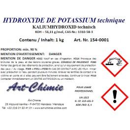 Hydroxyde de potassium technique (KOH) min. 90 %