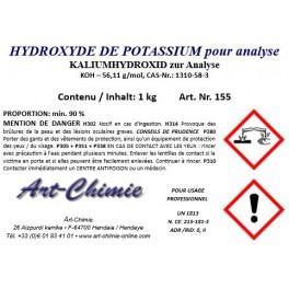 Hydroxyde de potassium pour analyse (KOH) min. 90 %