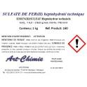 Sulfate de fer (II) heptahydraté technique ( FeSO4 x 7 H2O )