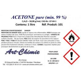 Acétone pure (C3H6O) min. 99% - 1 litre