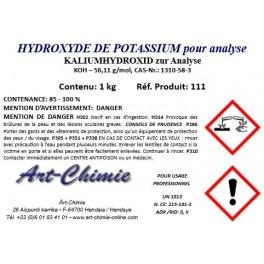 Hydroxyde de potassium pour analyse (KOH) min. 85%