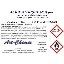 Acide nitrique - pur (HNO3) à 60%