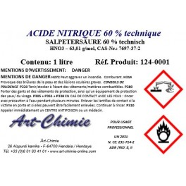 Acide nitrique - ​​technique (HNO3) 60%
